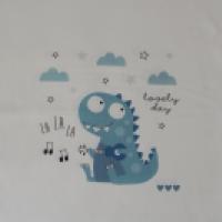 Panel dresowy Dinozaur z gitarą