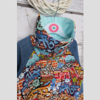 Bluza reglanowa z kominem - zdjęcie 2