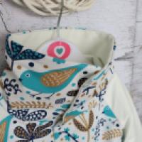 Bluza reglanowa z kominem rozpinana - zdjęcie 3