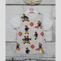 T-shirt z lamówką z krótkim rękawem - zdjęcie 4