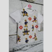 T-shirt z lamówką z krótkim rękawem