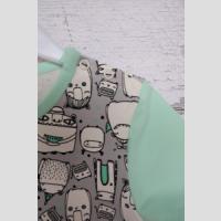 T-shirt z lamówką z krótkim rękawem - zdjęcie 8