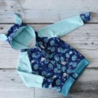 Bluza reglanowa z kapturem rozpinana - zdjęcie 2