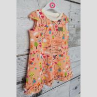 Sukienka trapezowa z falbanką - zdjęcie 4