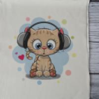 Panel dresowy Kot w słuchawkach