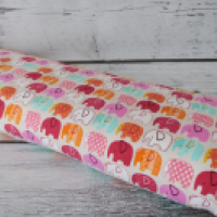 Dresówka drapana Różowe słonie